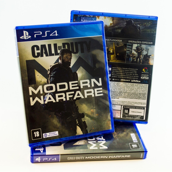 Jogo Ps4 Call Of Duty Modern Warfare Mídia Física Original