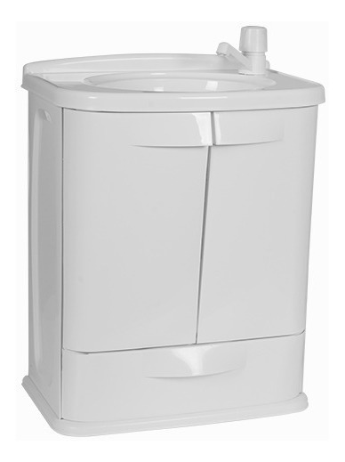 Gabinete Plástico Banheiro Gab Fit Cinza Astra