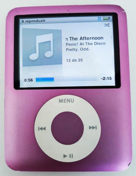 iPod Nano 8gb Apple A1236 3ª Geração + Cabo + Fone Samsung