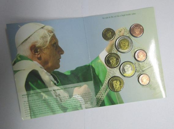 Vaticano 2007 Set 8 Prueba Ensayo Euros Benedicto Xvi Unc