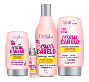 Forever Liss Kit Desmaia Cabelo Sh + Cond + Sérum + Leave-in