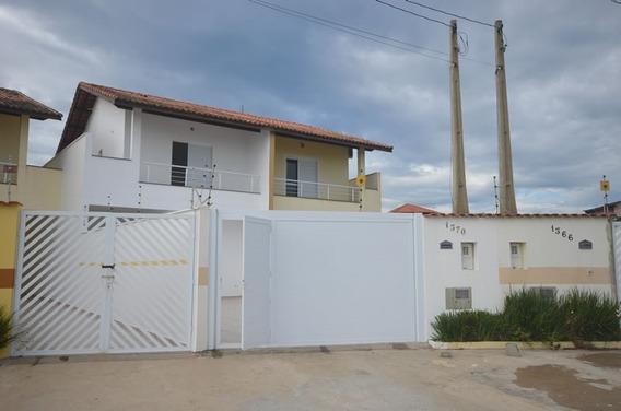 4287- Sobrado 2 Dormitórios Frente Ao Mar Aceita Financiamen