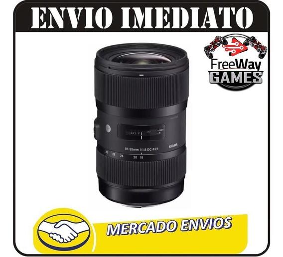 Sigma 18-35mm F1.8 Dc Hsm Para Nikon - Nfe Envio Imediato