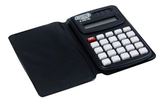 Calculadora De Bolso 8 Dígitos Cc0100 Preta Brw