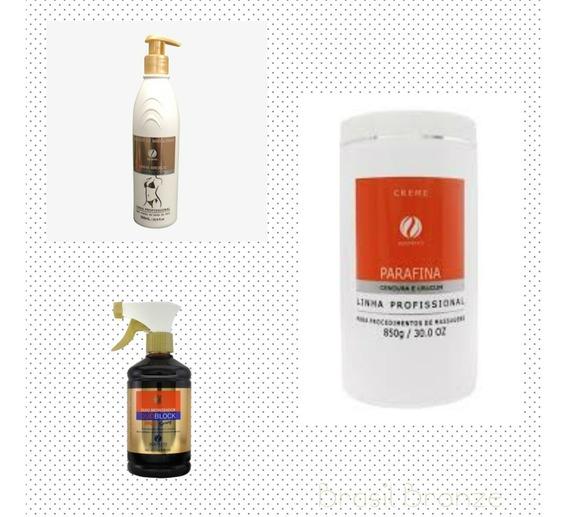 Kit Parafina Cenoura E Urucum + Oleo + Fixador Duotrato