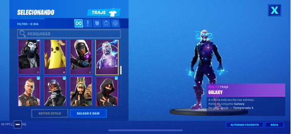Co-m-ta For-t-ni-t Galaxy-ikonik-tag Apoiador-salve O Mundo