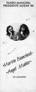 Programa Martín Bianchedi - Angel Mahler Año 1988
