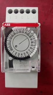 Timer Analogico Reloj Abb 2 Mod Din 220v