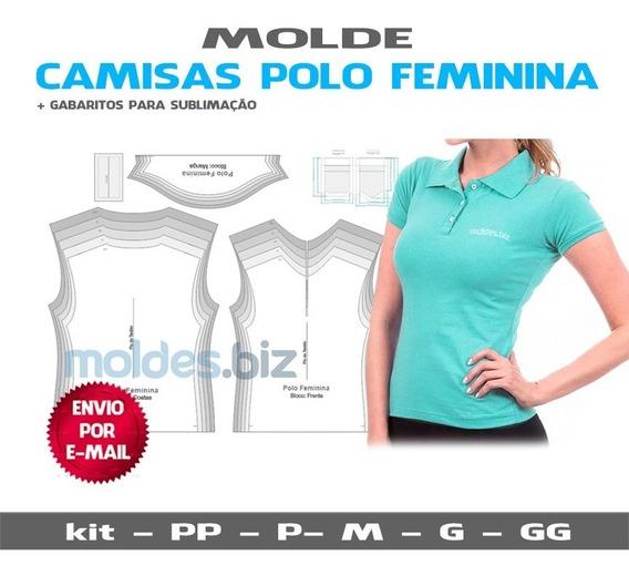 Molde Polo Baby Look Feminina - Em Pdf E Em Corel Promoção