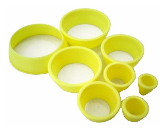 Cortador Redondo Para Biscuit Porcelana Fria C/8 Pçs
