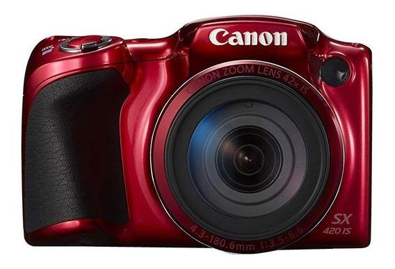 Canon PowerShot SX420 IS compacta avanzada roja