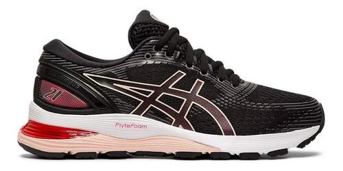 7.5 - Black - Zapato Asics Gel-nimbus 21 Mujer