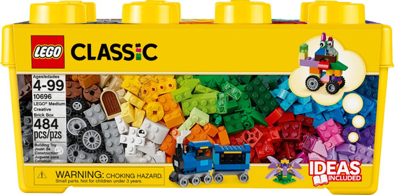 Lego Classic Caixa Média De Peças Criativas 484 Peças 10696