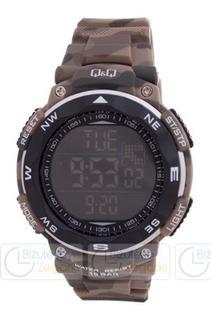 Reloj Q&q M124j807y Digital Militar Camuflado