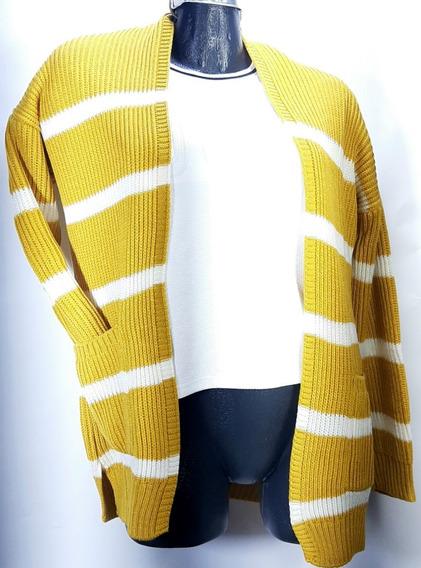 Suéter/ensamble Ivana Love Tejido Diseño A Rayas