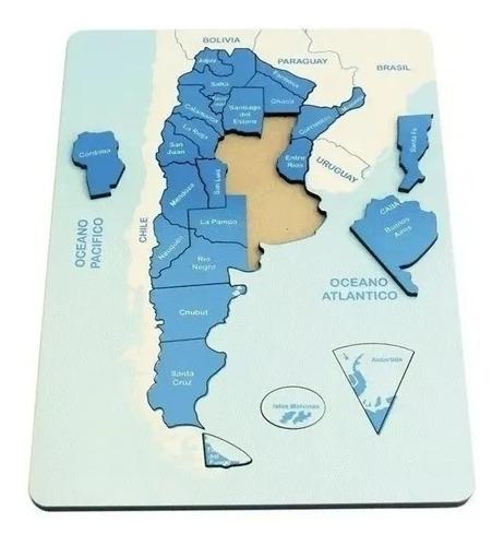 Puzzle Encastre Mapa De Argentina