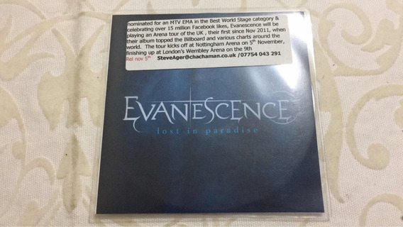 Evanescence Lost In Paradise Promo Cd