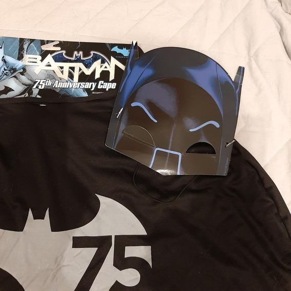 Disfraz - Capa Batman 75 Años. Original Dc Para Adultos