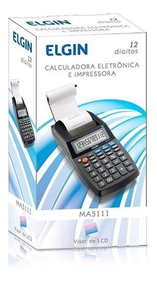 Calculadora Elgin Compacta Com Bobina 12 Dígitos Ma-5111