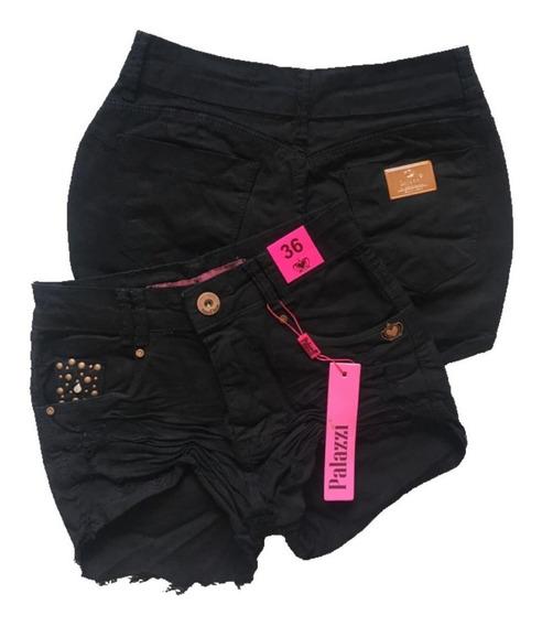 Shorts Jeans Feminino Cintura Alta Rasgado Pronta Entrega
