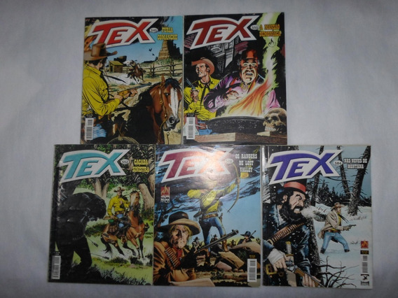 Tex N° 545 550 552 568 E 584 Mythos Lote Com 5 Hqs