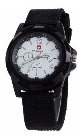 Relógio Unisex Swiss Army Militar Suiço Esportivo Preto Bran