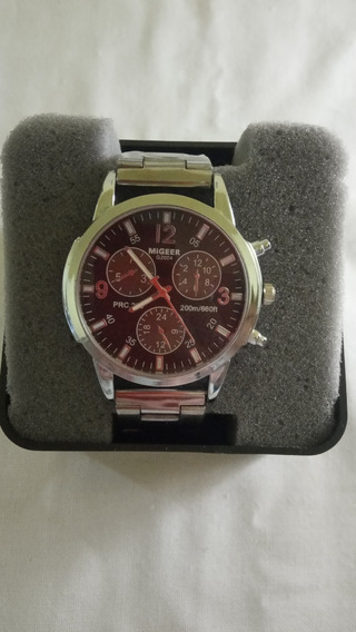 Relógio Masculino Migeer Aço Inoxidável Casual (barato)