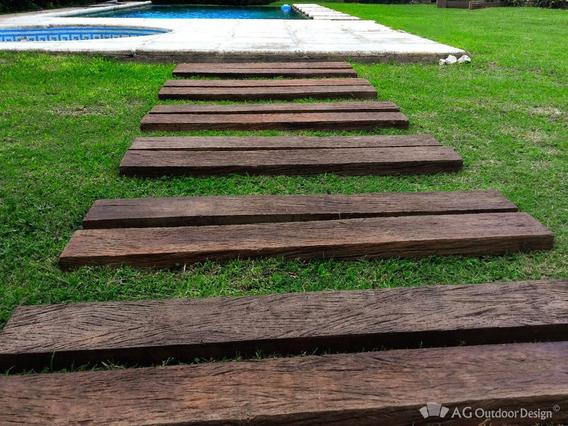 Durmientes Símil Madera - Línea Wood Lapacho