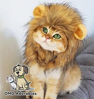 Omg Adorables Lion Mane Costume Para Gatos   Peluca Suave Y