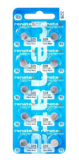 Pilhas Baterias 329, Relógio 1.55v Renata Sr731s Original 10
