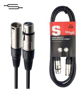 Cable Xlr (cannon) Profesional - 3 Metros Microfono Simisol