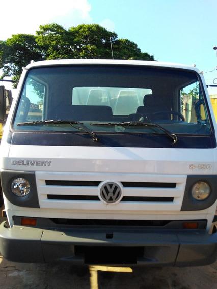 Caminhão Vw 8150 C/ Cabine 8 Lugares + Carroceria Ano 2007