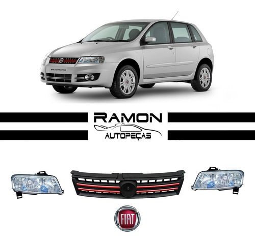 Imagem 1 de 3 de Farol Fiat Stilo 2007 2008 2009 2010 2011 Novo Kit