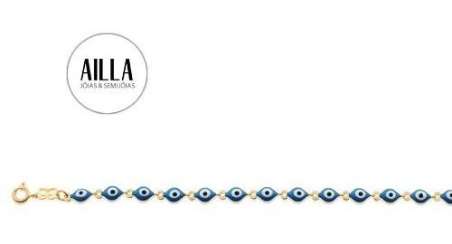 Pulseira Olho Grego 6x5mm 19 Ajustável 18 Cm Rommanel 551372
