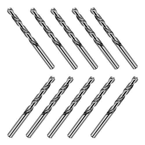 Imagem 1 de 8 de Kit C/ 10 Broca Aço Rápido 4mm Beltools