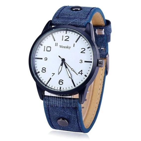 Weesky 1203g Masculino Quartz Watch Com Pulseira De Couro
