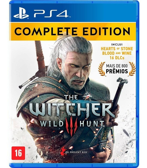 The Witcher 3 Complete Edition Ps4 - Jogo Mídia Física