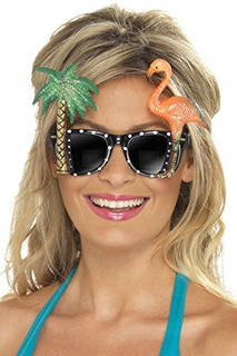 Smiffys Womens Specs Con Flamingo Y Palm Tree
