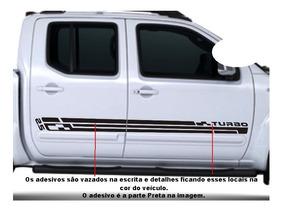 Adesivo Faixa Lateral Nissan Frontier Turbo 2.5 Acessório A1