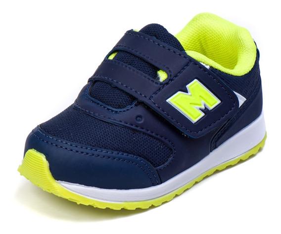 Tênis Infantil Bebê Masculino De Velcro Leve Macio As163
