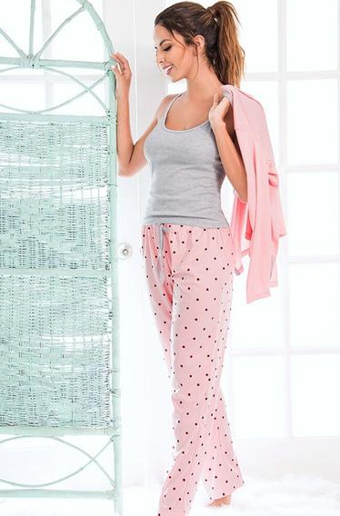 Pijama Mujer Saco Trio Camisa Pantalon Multiuso Juvenil