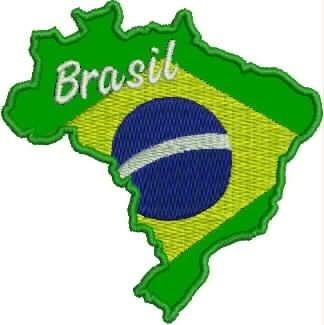 Patch Bordado Termocolante Mapa Do Brasil 8,5x8cm Tma3