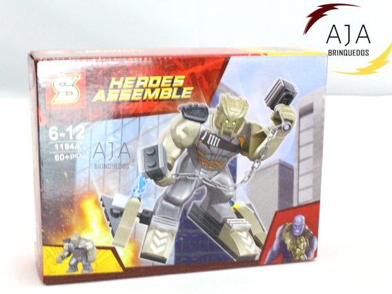 Brinquedo Bloco Boneco Lego Servo Do Thanos 60 Peças P/e