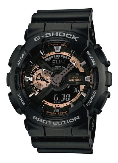 Relógio G-shock Ga-110-1b - Preto Fosco