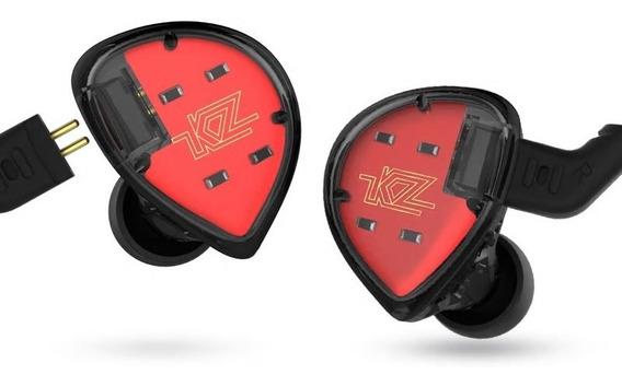 Shure Se535 = Fone Kz Es4 In Ear Monitor Palco Profissional
