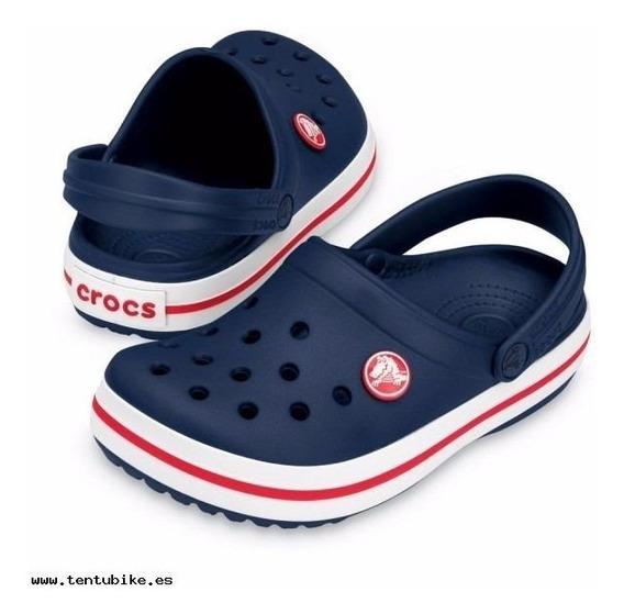Crocs Crocband Kids Marino C10998n / Negro C10998b