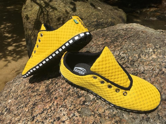 Tênis Taygra Modelo Corrida Amarelo Ouro