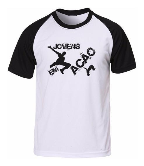 Camisa Camiseta Raglan Evangélica Cristã Gospel Jovens