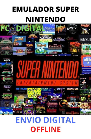 Emulador De Super Nintendo - Pc Digital