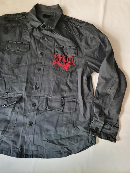 Camisa Blac Label Biker Extra Grande Gris